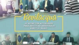 PRESIDENTE DA CÂMARA, PREFEITO SE REUNE COM AUTORIDADES PARA ARTICULAR ABERTURA DO BANCO DO BRASIL