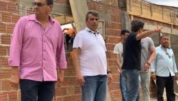 PRESIDENTE CICERO SILVA E VEREADOR TOCA VISITAM AS OBRAS REALIZADAS NESTE MUNICIPIO.